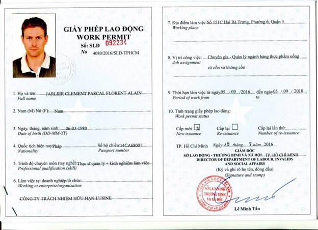 Procedures for applying for a work permit