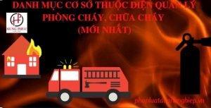 Danh mục cơ sở thuộc diện quản lý phòng cháy, chữa cháy (mới nhất) | Pháp luật Doanh nghiệp