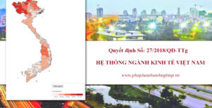 Quyết định Số: 27/2018/QĐ-TTg ban hành hệ thống ngành kinh tế Việt Nam